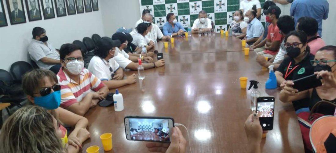 Los jóvenes secuestrados fueron recibidos en el Comité