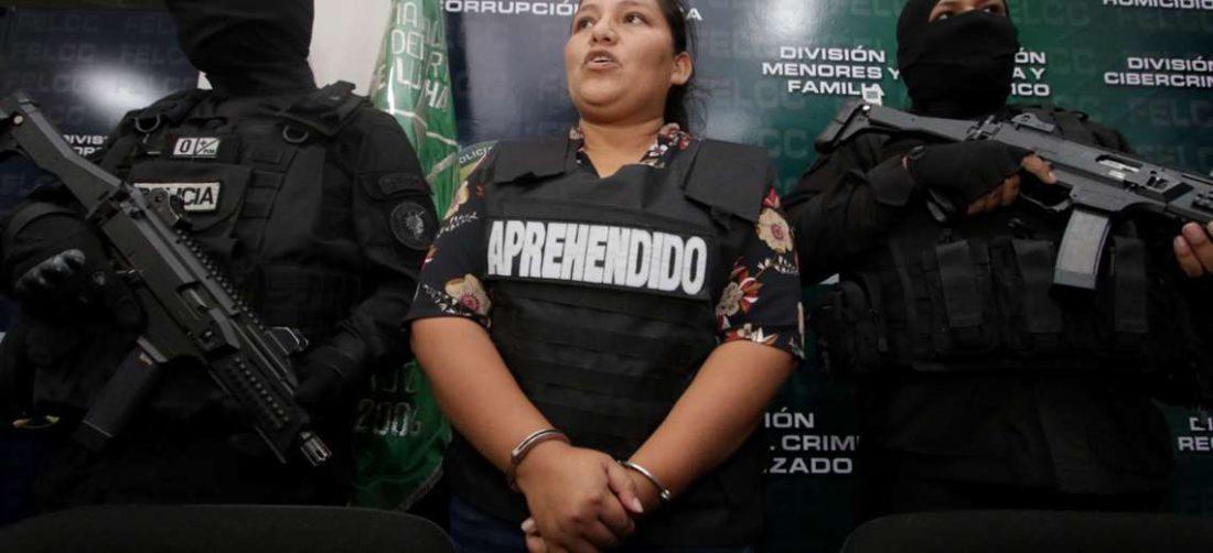 Choque cuando fue presentada por la Policía. Foto Hernán Virgo