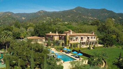 La propiedad en Montecito, Santa Barbara, que compraron el 18 de junio pasado el príncipe Harry y Meghan Markle, duques de Sussex (Sotheby´s International realty)