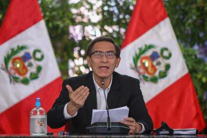 El presidente Martín Vizcarra, en Lima (EFE/Presidencia)