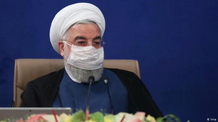 Iran Hassan Rohani, Staatspräsident mit Mundschutz (Irna)