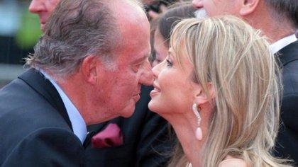 El ex rey junto a su ex amante Corinna Larsen
