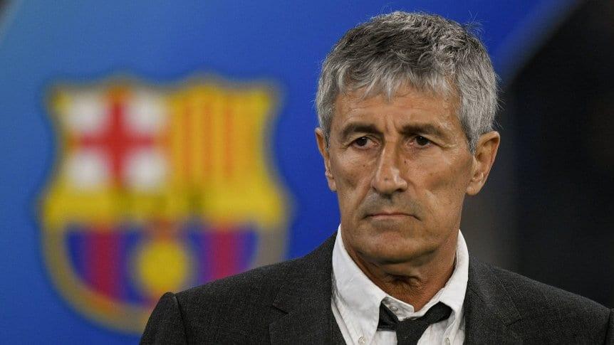 Quique Setién dejó de ser el técnico de Barcelona