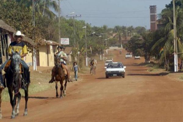 Población de San Matías, del departamento de Santa Cruz.