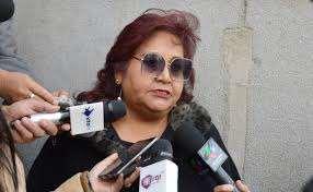 La legisladora en conferencia de prensa I Foto: archivo.