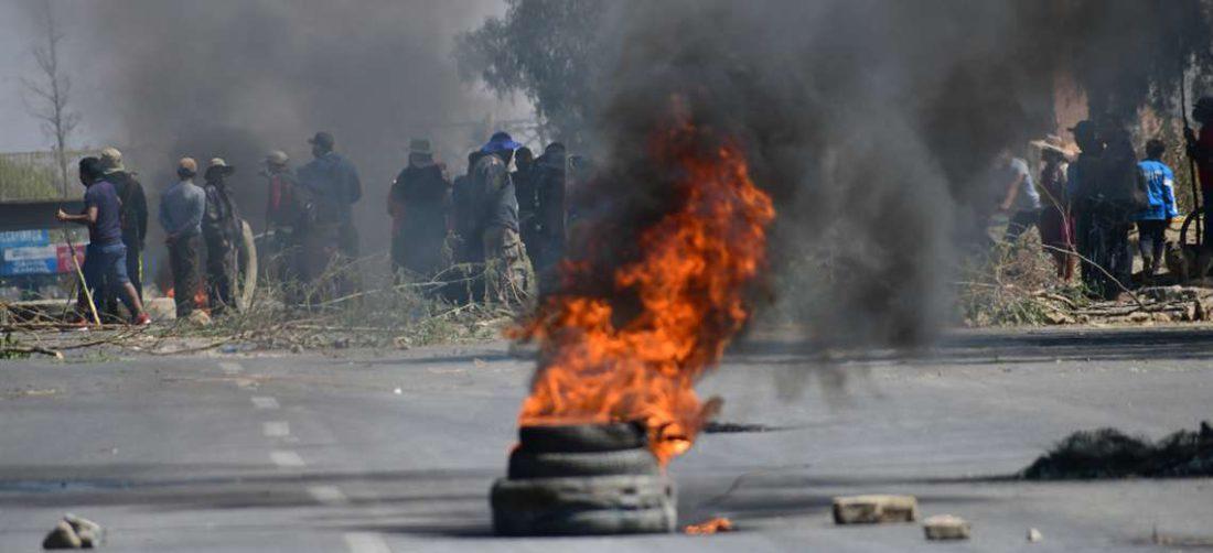 Transcurren nueve días de bloqueos de las principales carreteras del país /Foto: Los Tiempos