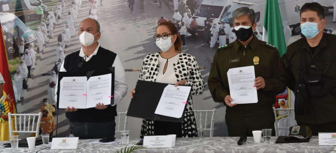 Autoridades presentaron el convenio suscrito