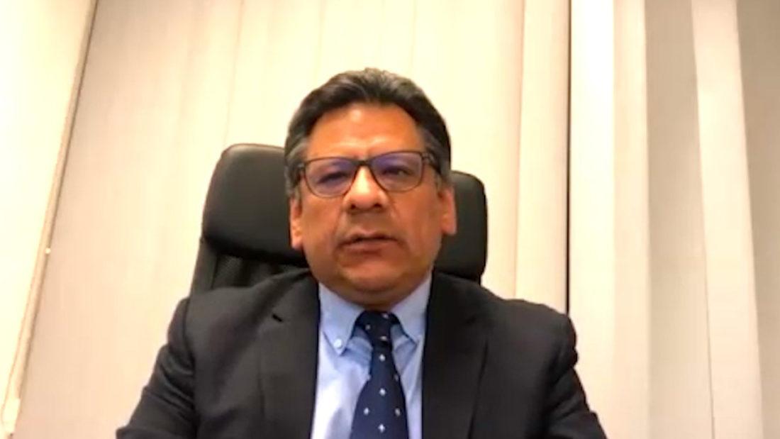El encargado de Negocios de Bolivia en Alemania, Gustavo Espinoza.