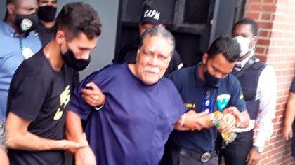 El jefe Tupamaro, José Pinto, al momento de ser detenido