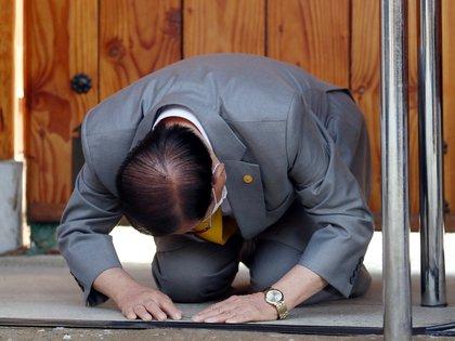 En marzo, el líder de un grupo religioso coreano pidió perdón por la propagación del coronavirus en los actos de su iglesia (Reuters)