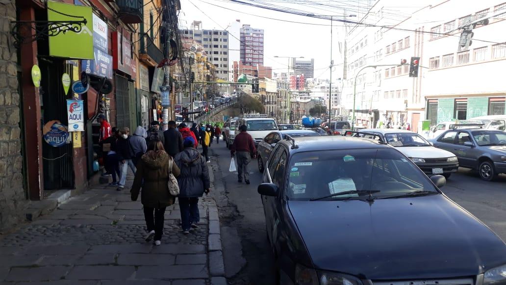 Primer día de la cuarentena dinámica en La Paz Foto: Radio FIDES
