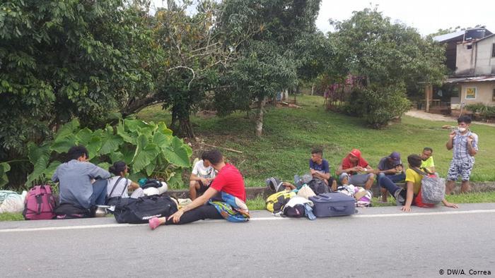 Foto de migrantes venezolanos en Colombia