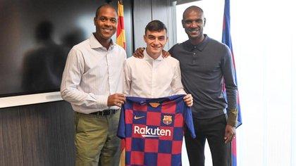 Pedri tiene 17 años y viene de jugar en Las Palmas