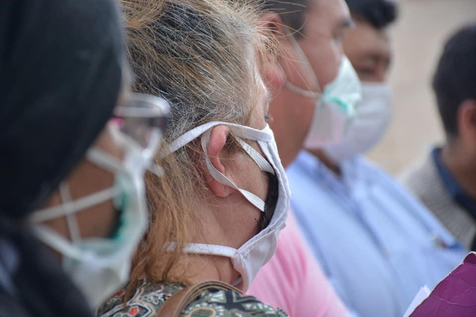 Gente con barbijo/Imágen de referencia/ Foto: Gobernación de Cochabamba
