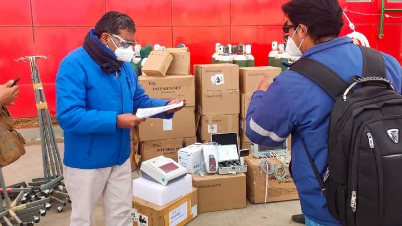 El Centro Covid-19 de Potosí recibe ocho respiradores y equipos de bioseguridad