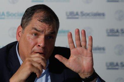 El ex presidente ecuatoriano, Rafael Correa (EFE/Juan Ignacio Roncoroni/Archivo)