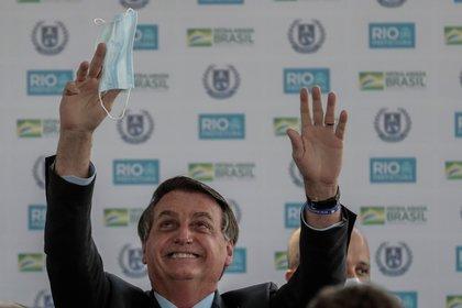 El presidente de Brasil, Jair Bolsonaro, en su mejor momento en la opinión pública (EFE/Antonio Lacerda/Archivo)