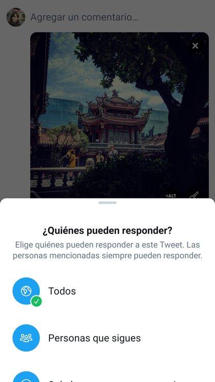 Esta herramienta permite elegir quién responde a tus tuits.