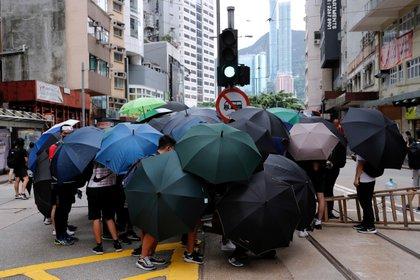 El paraguas se ha convertido en un símbolo de las manifestaciones pro democracia en Hong Kong. Foto: REUTERS/Tyrone Siu
