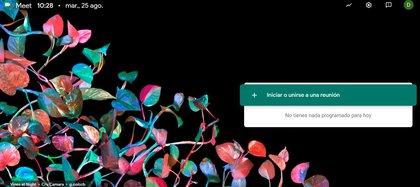 Así se inica una videollamada en Google Meet