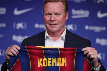 Koeman arribó al Barcelona y su llegada no le cayó bien a Leo (REUTERS/Albert Gea)