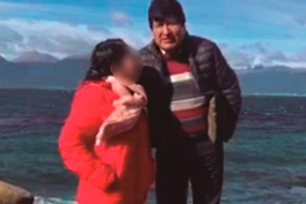 Evo Morales y su presunta pareja sentimental N.M.C. Foto: Página Siete