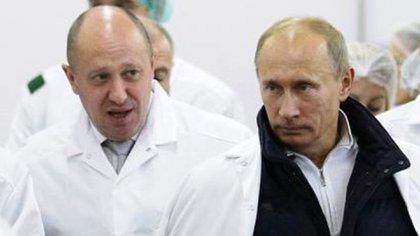 Yevgeny Prigozhin con Vladimir Putin