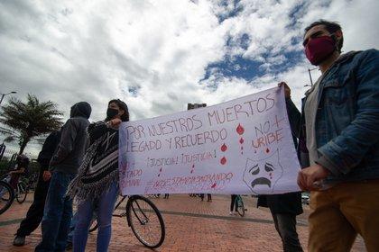 26/08/2020 Manifestación contra las recientes masacres cometidas en Colombia. POLITICA SUDAMÉRICA COLOMBIA LATINOAMÉRICA INTERNACIONAL SEBASTIAN BARROS SALAMANCA / ZUMA PRESS / CONTACTO
