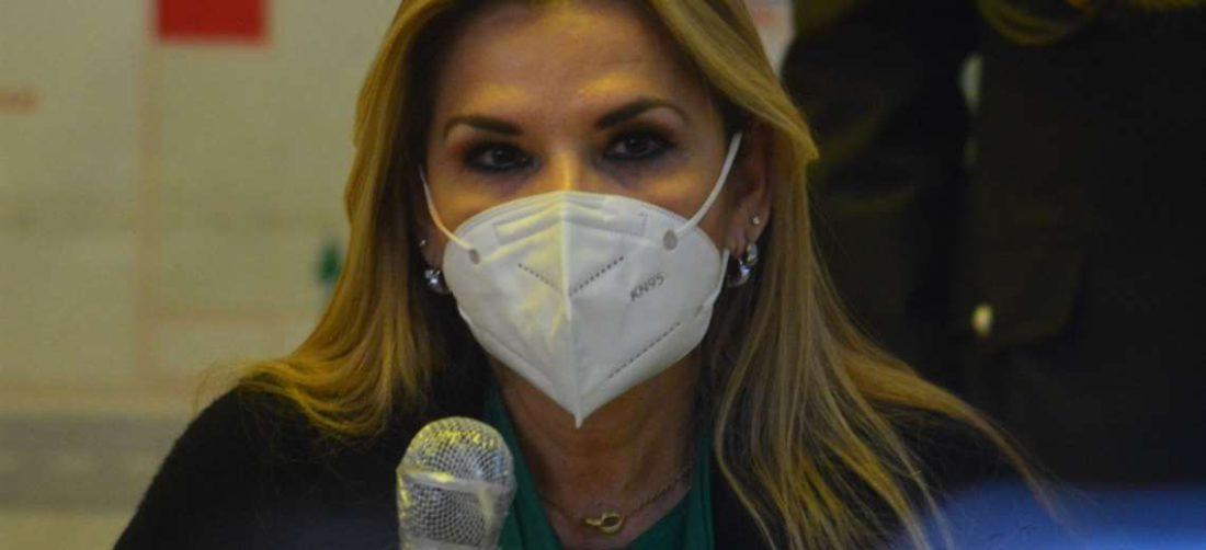 La Presidenta Jeanine Áñez en Tarija. Foto: APGNoticias