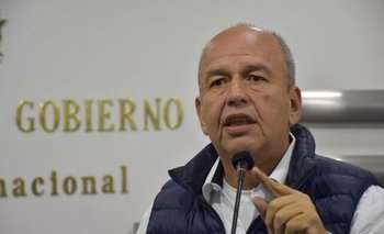 El ministro de Gobierno, Arturo Murillo