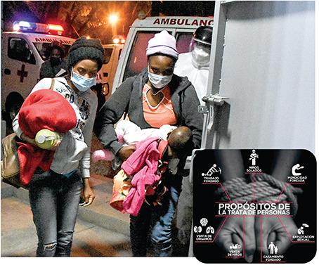 Ciudadanos haitianos que supuestamente son víctimas de trata. Archivo Opinión