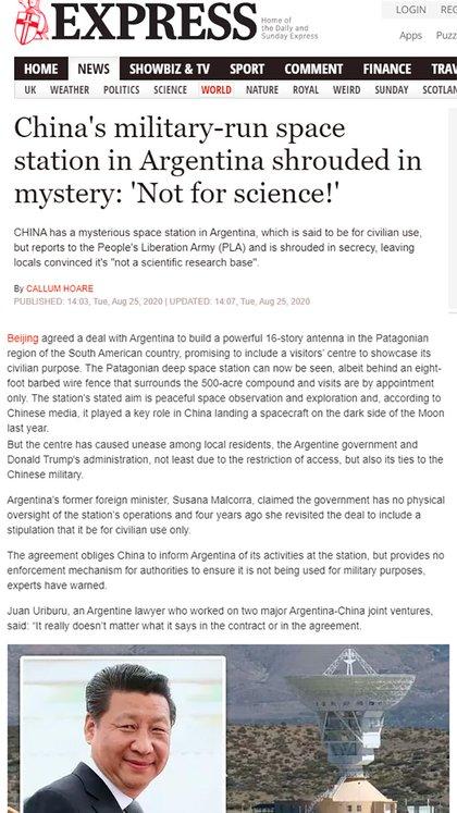 El artículo publicado por Daily Express