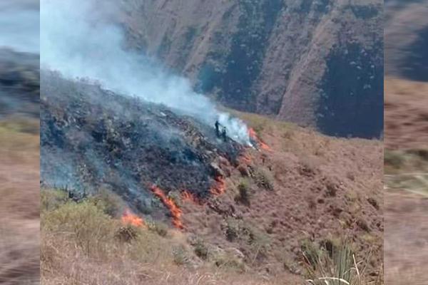 Incendio en Pajchani Tarija Foto: El País Tarija