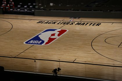 Aug 26, 2020; Lake Buena Vista, Florida, USA; A general view inside The Field House before game five of the first round of the 2020 NBA Playoffs between the Oklahoma City Thunder and Houston Rockets. Mandatory Credit: Kim Klement-USA TODAY Sports