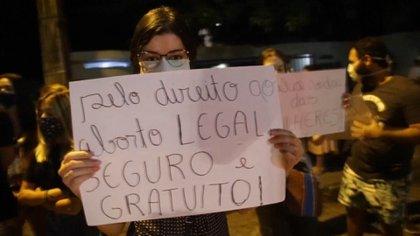 Brasileñas en manifestaciones a favor del aborto