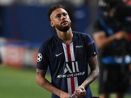 En la imagen, el delantero brasileño Neymar del París Saint-Germain. EFE/David Ramos/Archivo