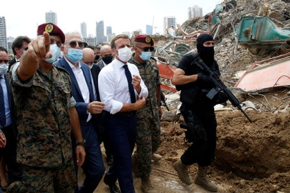Macron visitó Beirut el 6 de agosto