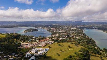 Imagen aérea de Port Vila, capital de Vanuatu (Shutterstock)