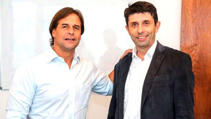 Rodríguez con el presidente Luis Lacalle Pou