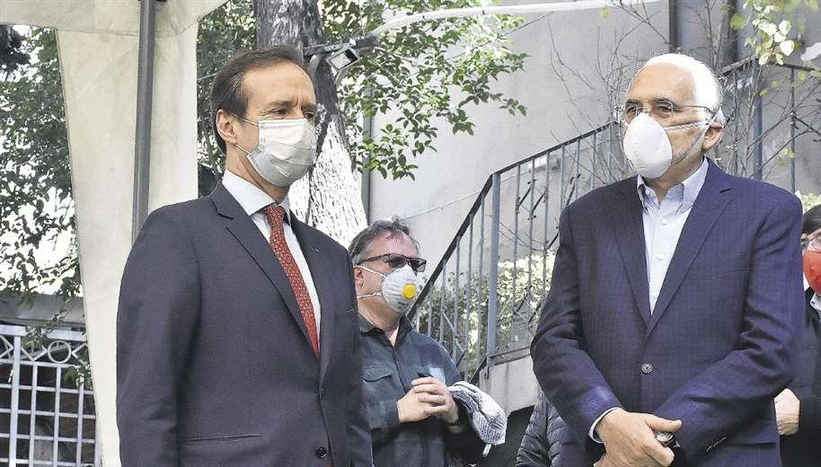 Tuto Quiroga y Carlos Mesa, candidatos a la presidencia. Foto: APG