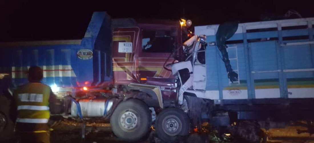 Así quedaron los camiones tras el impacto