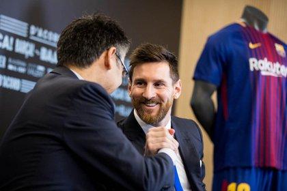 25/11/2017 Josep Maria Bartomeu Leo Messi DEPORTES ESPAÑA EUROPA FÚTBOL TWITTER JOSEP MARIA BARTOMEU