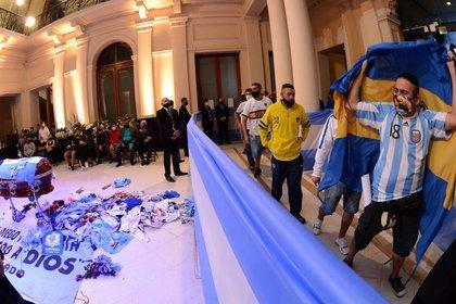 El velorio del astro fue en la Casa Rosada (Reuters)