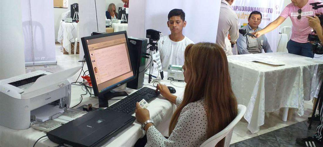 Este jueves se inicia el empadronamiento biométrico con mira a las elecciones subnacionales   EL DEBER