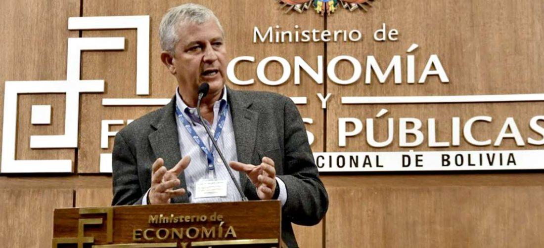 El exministro de economía defendió la gestión de Añez/Foto: APG