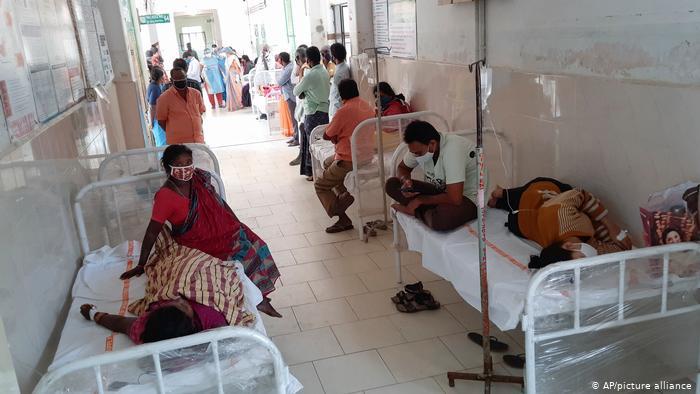 Indien Krankenhaus Eluru unbekannte Krankheit