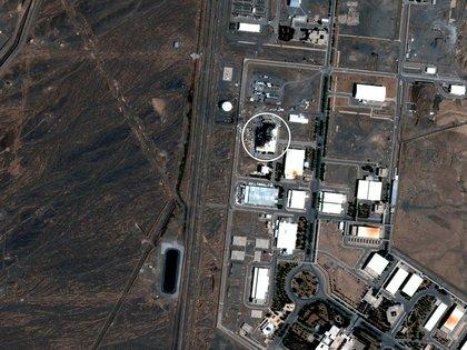 La instalación nuclear de Natanz, en imagen satelital del 8 de julio de 2020 (Maxar Technologies)