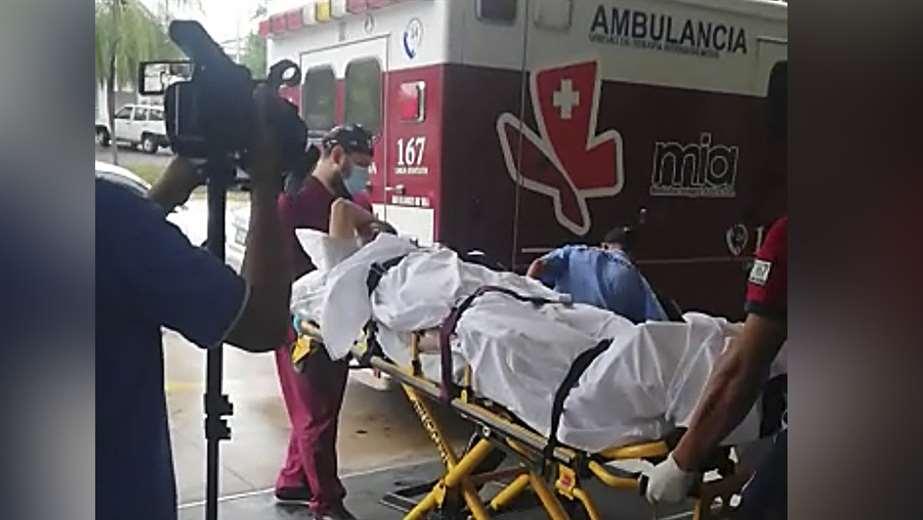 La persona que resultó herida fue trasladada a un centro de salud