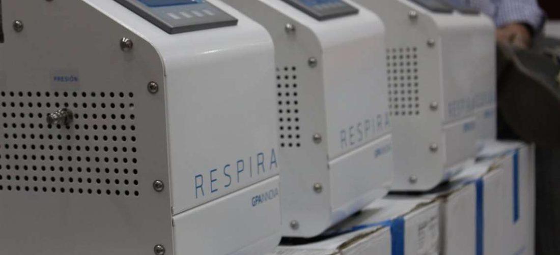 Los respiradores llegaron el 14 de mayo de España y fueron distribuidos en diferentes hospitales.