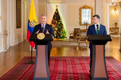Leopoldo López se reunió con el presidente colombiano Iván Duque (Colombia's Presidency/Handout via REUTERS)